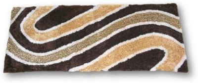 Sudesh Handloom Non-woven Medium Floor Mat Sudesh Handloom Golden Brown Art Design Rug