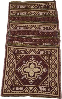 Pasricha Handlooms Cotton Medium Floor Mat Navratra/Diwali Pooja Mat , Set of 5