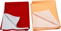 Eazidry Cotton Baby Bed Protecting Mat Mat Combo of Eazidry Plain waterproof Orange Small + Red Large dry sheets(Orange, Red, Large)