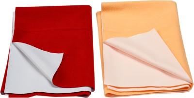 Eazidry Cotton Large Sleeping Mat Combo of Eazidry Plain waterproof Orange Small + Red Large dry sheets
