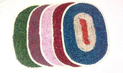 SAMBHAV Cotton Medium Door Mat Fur Oval
