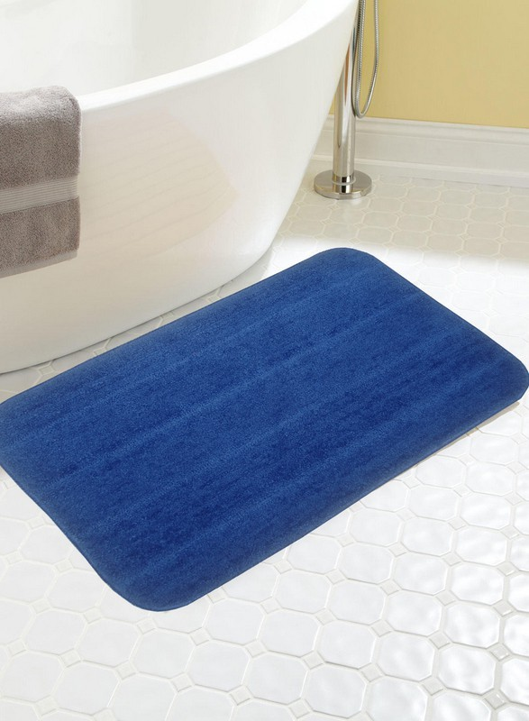 BIANCA Microfiber Anti-slip/Anti-grease Mat BATH MAT(ROYAL BLUE, Medium)