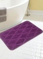 BIANCA Microfiber Medium Anti-slip/Anti-grease Mat BATH MAT(Purple, 1 BATH MAT)