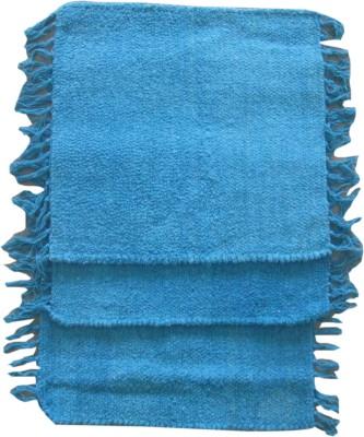 Krishna Carpets Cotton Medium Door Mat Blue Color 45 x 45 Cm Mats