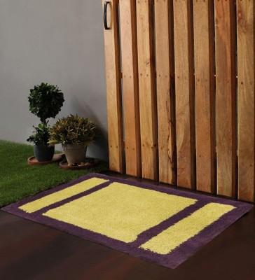 POBO Cotton Medium Door Mat Po Box Bricks Purple & Green 1 Bath Rug 24
