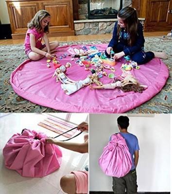 Zabrina Nylon Medium Play Mat Practical Kid Toys Organizer Buggy Bag Play Mat Rug Toy Storage Holder Boxes