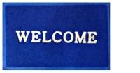 Zesture Plastic Door Mat WelcomePlasticMats(Blue, Medium)