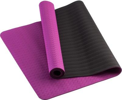 TVALA Microfiber Large Yoga and Exercise Mat Reversible Yoga Mat with Highly Antiskid - Pink/Shado