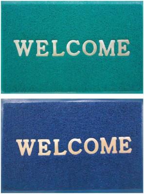 Shopgalore PVC Medium Floor Mat Welcome