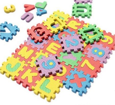 Taaza Garam Rubber Medium Play Mat Baby Child Kids Alphabet Number Puzzle Foam Learning Toy