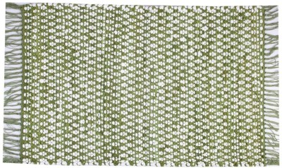 Homenblingss Cotton Small Door Mat Asterix Green rug