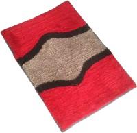 GLOBAL HOME TEX Polyester Medium Anti-slip/Anti-grease Mat D211(Red)