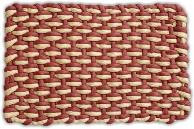 FabLooms Polyester Small Floor Mat FL-Adda-Rust