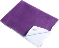 Quick Dry Microfiber Extra Large Baby Bed Protecting Mat Mat Bed Protector - Double Bed(Plum, 1 Mat)