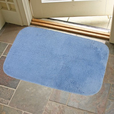 KunalHomeConcept Cotton Small Bath Mat Sky Blue Oslo Bathmat