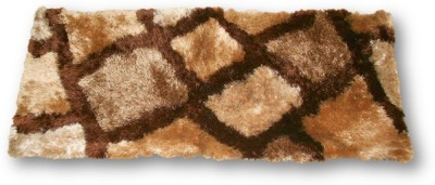 Sudesh Handloom Non-woven Medium Floor Mat Sudesh_Handloom_Check_Design_Golden_Brown_Rug_1200