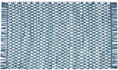 Homenblingss Cotton Small Door Mat Asterix Blue Rug