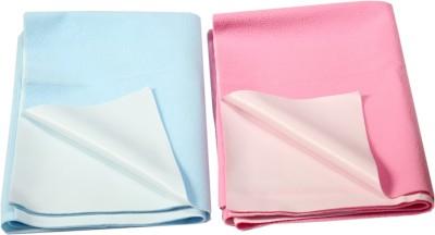 Eazidry Cotton Large Sleeping Mat Combo of Eazidry Plain waterproof Blue Small + Pink Large dry sheets