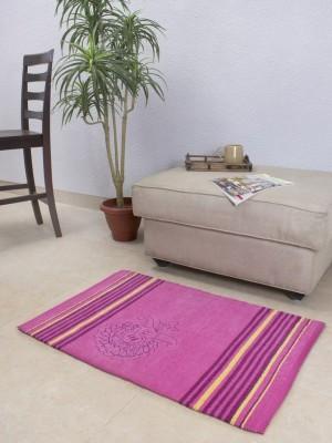House This Cotton Medium Floor Mat Floor Rug(Pink, 1 Floor Rug)