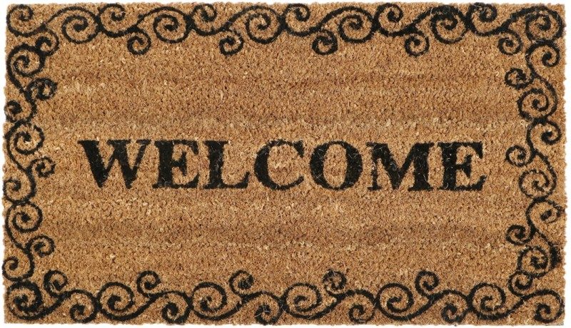 SWHF Coir, Rubber Door Mat Welcome Door Mat(Brown, Medium)