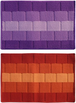 Status Polypropylene Medium Floor Mat Iris_purple_orange_2pcs