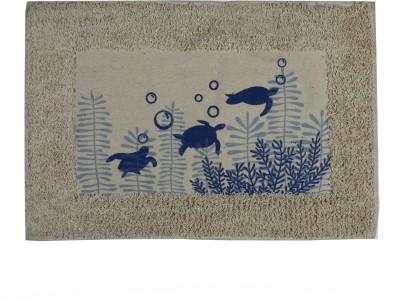 Calico Touch Cotton Medium Door Mat Blue Turtle