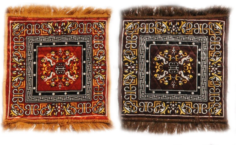 Home Attraction Cotton Prayer Mat combo of 2 pooja assan(Beige,Brown, Medium)