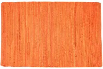 Homenblingss Cotton Small Door Mat Solid Orange Rug