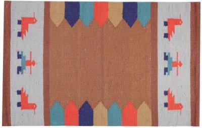 Homenblingss Cotton Small Door Mat Gabbeh Beige Rug
