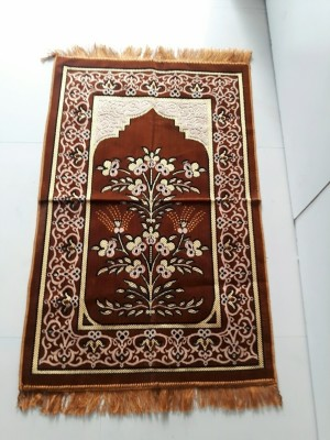 MAYUR7STAR Polyester Medium Prayer Mat Muslim(Multicolur)