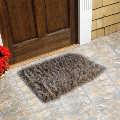 Firangi Cotton, Nylon, Polyester Free Floor Mat Firangi Decorative Trd Fur Door Mat
