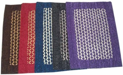 Peponi Polyester Small Door Mat Peponi Decor Checks & Strip Cotton Schenelle Floor Mat Set Of 5