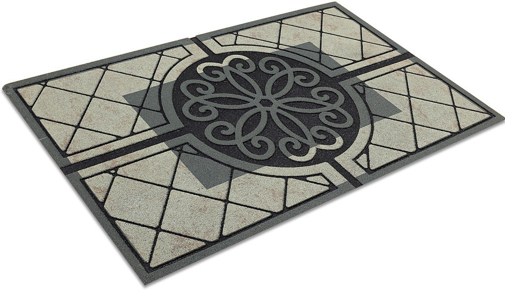 Galicha Rubber Medium Door Mat Circle Damask Door Mat