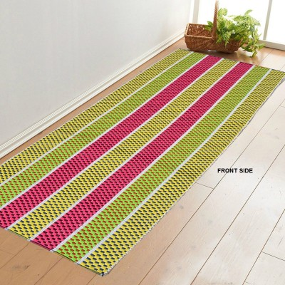 Younique Cotton Large Floor Mat Double Side Cotton Handloom Floor Mat Runner (72 Inches X 24 Inches)