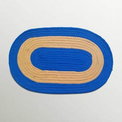 Firangi Cotton, Polyester Free Door Mat Firangi Designer Oval Door Mat