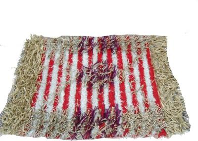 Mrignayaneei Acrylic, Silk, Cotton Medium Door Mat Threaded Cotton Mat