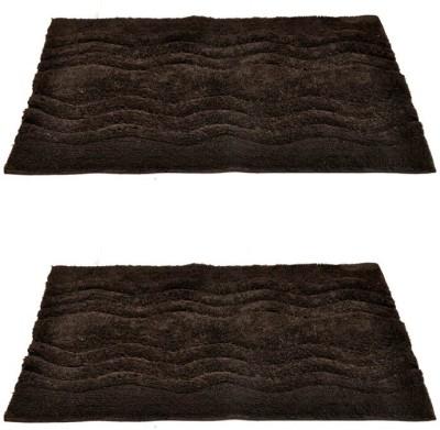 Homefurry Cotton Large Bath Mat Hexa Wave