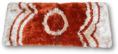 Sudesh Handloom Non-woven Medium Floor Mat Sudesh Handloom Rust Circle Desgin Rug
