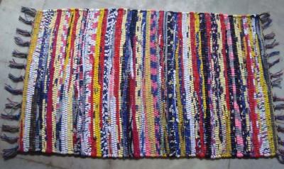 Passion Exports Cotton Medium Floor Mat Rainbow Chindi Rug