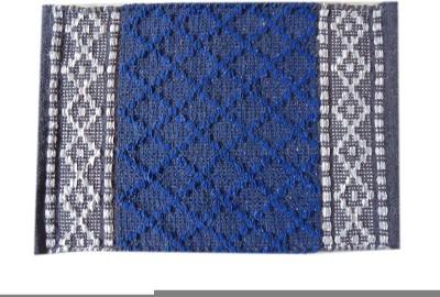 Shopgalore Cotton Medium Floor Mat Diamond