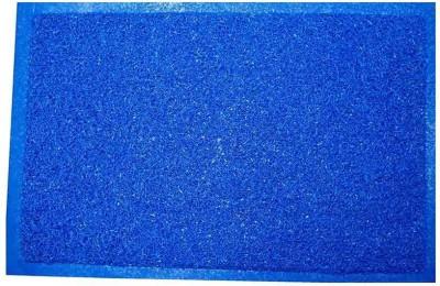 Chaitnya Handloom River Grass Medium Floor Mat Plain Blue Mat