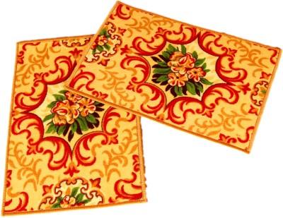 Ritika Carpets Velvet Medium Door Mat Door Mat Set Of 2