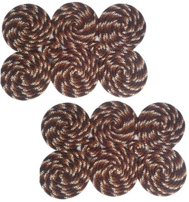 Firangi Cotton, Polyester Free Floor Mat Firangi Stylish Round Door Mat