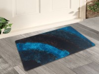 Story@home Polyester Door Mat Brick(Blue, Medium)