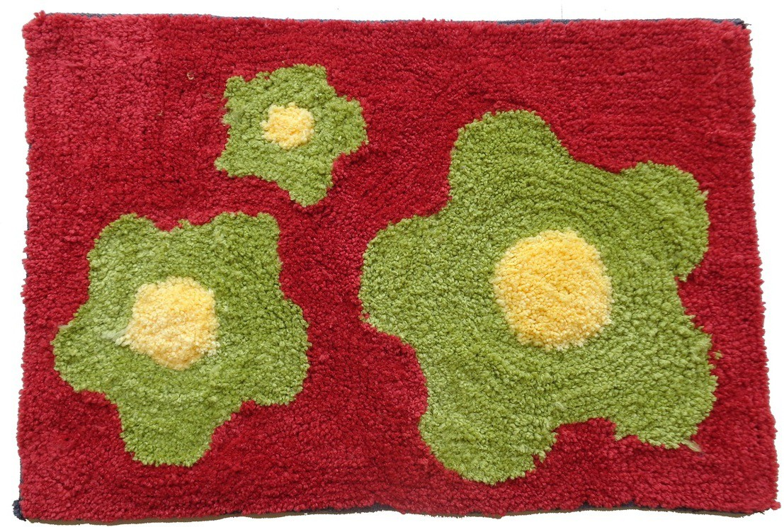 Home Fashion Microfiber Medium Door Mat Micro Flower