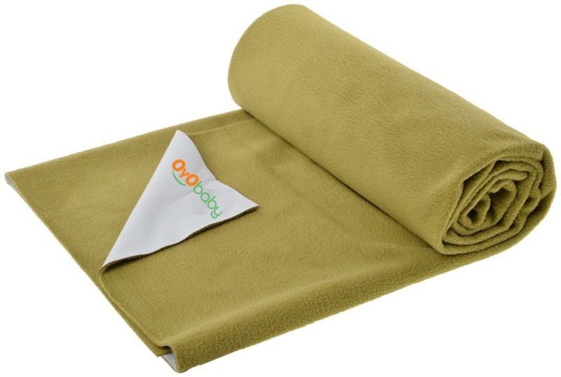 Oyo Baby Cotton Changing Mat Baby Care Sheet(Gold, Large)