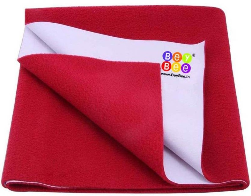 Bey Bee Cotton Changing Mat Waterproof Bed Protector Sheet(Red, Extra Large)