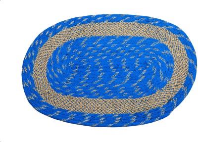 Nitin traders Cotton Small Floor Mat Super 80 blue floor mat