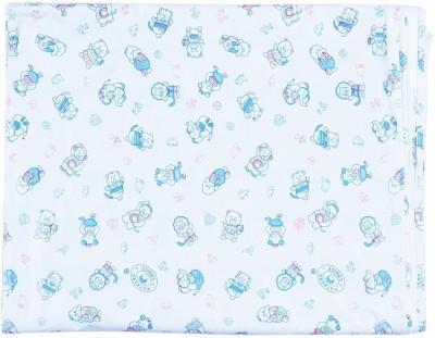 Stuff Jam Plastic Large Sleeping Mat White With Blue Print Spongy Plastic Sheet - Large