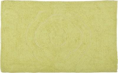 Brabuon Cotton Medium Floor Mat Green Cotton Cuntoor set (length 80 cm and width 50 cm)
